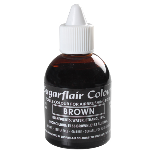 Foto: SUGARFLAIR - Colorante per aerografo marrone 60 ml.
