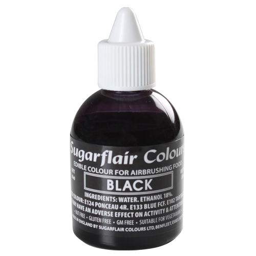 Foto: SUGARFLAIR - Colorante per aerografo nero 60 ml.