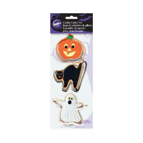 Foto: WILTON - SET 3 TAGLIAPASTA COLORATI HALLOWEEN