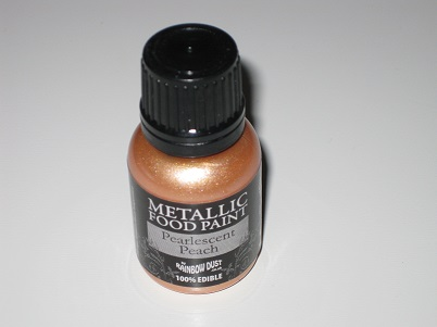 Foto: Colorante Rainbow Dust  Vernice metalizzata pesca 25 ml